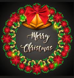 advent wreath of precious stones vector image