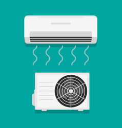 Air flow condition cool background vector
