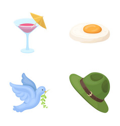 alcohol bird and other web icon in cartoon style vector image