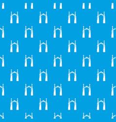 Archway elf pattern seamless blue vector