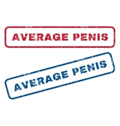 Average Penis Rubber Stamps vector image