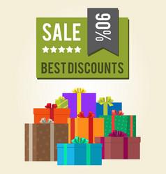 Best discounts sale 90 green square label sticker vector