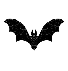 black bat silhouette vector image