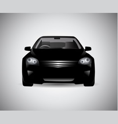 black car side silhouette vector image