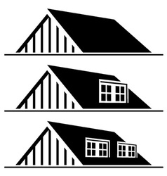 Black house roof silhouette vector