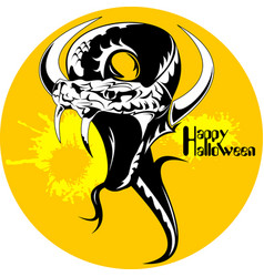 black snake halloween vector image