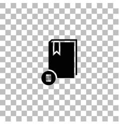 Book icon flat vector