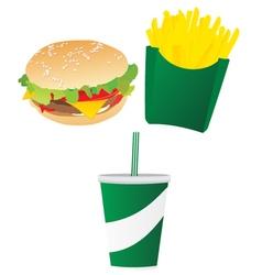 Burger Set vector