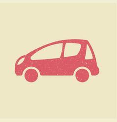 Car icon in grunge style vector