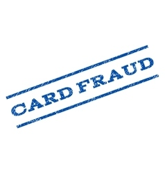 Card Fraud Watermark Stamp vector image