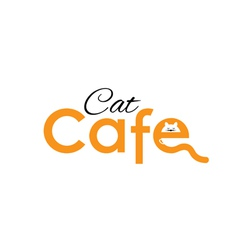 cat cafe vector image