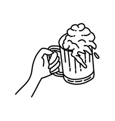 cheers icon doodle hand drawn or outline icon vector image