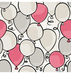Colorful balloons background vector