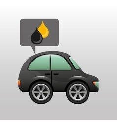 Coupe car gasoline oil icon vector