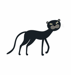 cute black panther cartoon isolated on white vector image