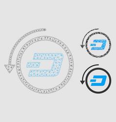 Dash revert payment mesh wire frame model vector