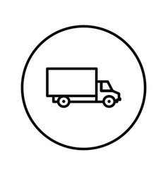 delivery truck icon editable thin line vector image