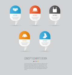 dress icons set collection of stylish apparel vector image