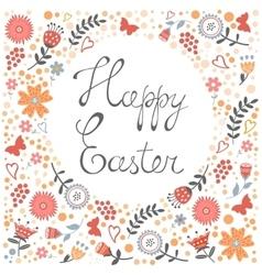 Elegant floral Easter card vector