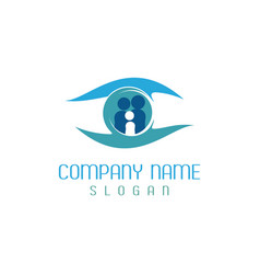 Family vision care logotype vector
