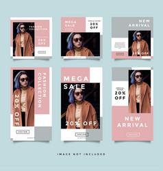 Fashion social media promotion instagram story vector