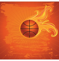 Fire Basketball Ball2 vector