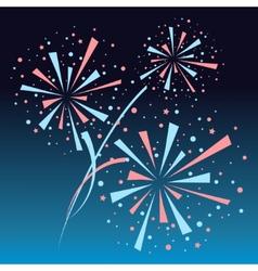 Firework background vector