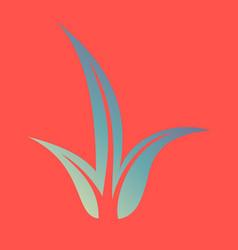 Flat leaves logo template vector