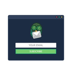 form of email subscribe newsletter vector image