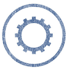 Gear fabric textured icon vector