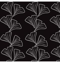 Ginkgo biloba pattern vector