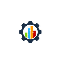 Graph gear logo icon design vector