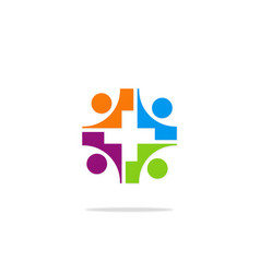 group cross hospital care logo vector image