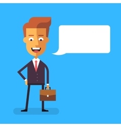 Handsome businessman with a briefcase vector image