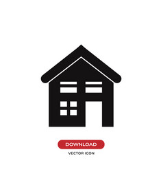 Home icon house symbol vector