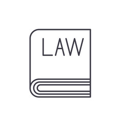 law line icon concept law linear vector image