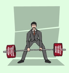 Lifting bad debt vector image