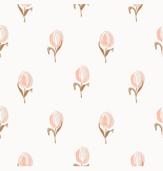 Light tulips spring flowers floral vector