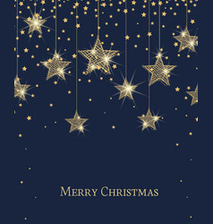 merry christmas stars vector image