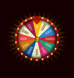 Modern fortune wheel on black background vector