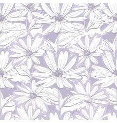 Monochrome lilac gray floral wallpaper Seamless vector