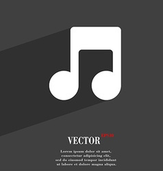 Music note icon symbol Flat modern web design with vector image
