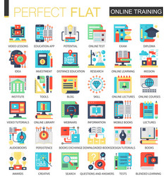 online education complex flat icon concept vector image