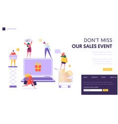 online store sale landing page shop online vector image