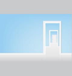 open the door to the light vector image