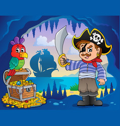Pirate cove topic image 2 vector