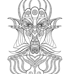 Portrait of a demon in abstract style vector image