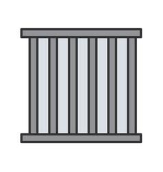 Prison bars color icon vector