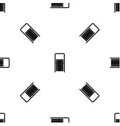 Public garbage bin pattern seamless black vector