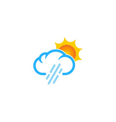 rain weather and season logo icon design vector image